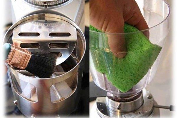 Bạn cũng đừng quên vệ sinh Brew Group trên máy pha cà phê