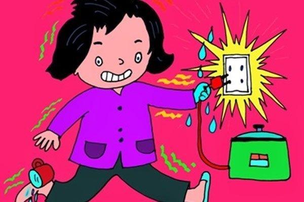 Tay ướt đụng vào đồ gia dụng sẽ khiến bạn bị giật điện