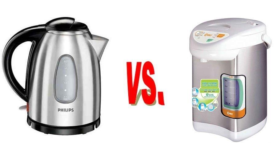 So sánh bình đun siêu tốc và bình thủy điện