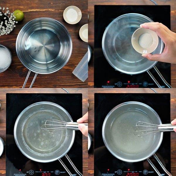 Đun sôi nước trên bếp điện