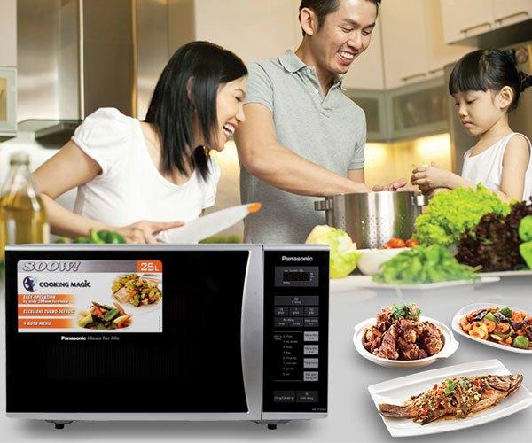 Lò vi sóng Panasonic NN-ST342MYUE 25 lít với thiết kế sang trọng, mang đến sự hiện đại cho căn bếp của bạn