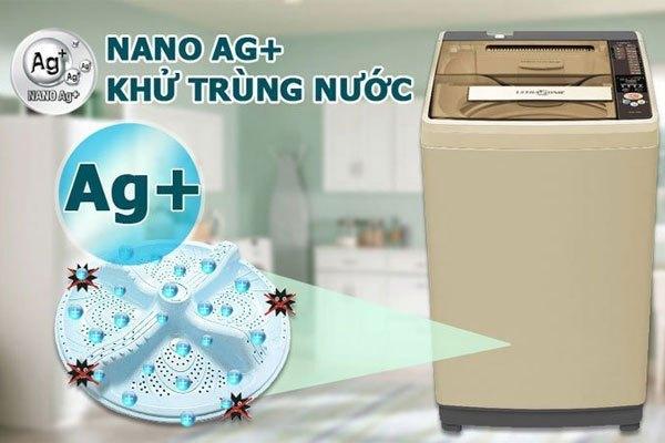 Nano Ag+ trên máy giặt Aqua giúp bảo vệ tối ưu làn da của người dùng