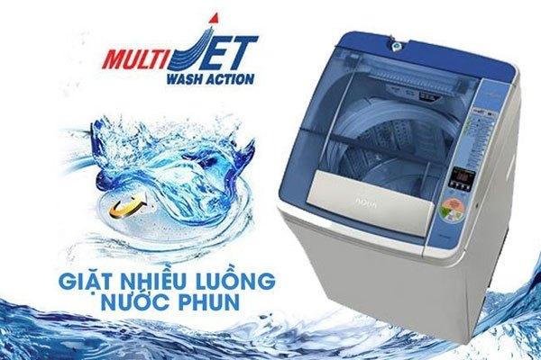 Công nghệ Multi Jet trên máy giặt Aqua đánh bay vết bẩn đột phá
