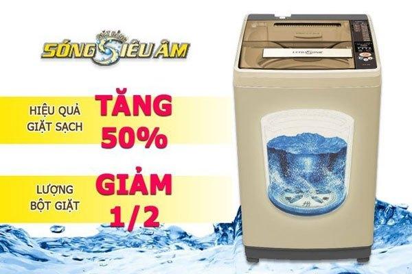 Quần áo sạch đến khó tin nhờ công nghệ giặt bằng sóng siêu âm trên máy giặt Aqua
