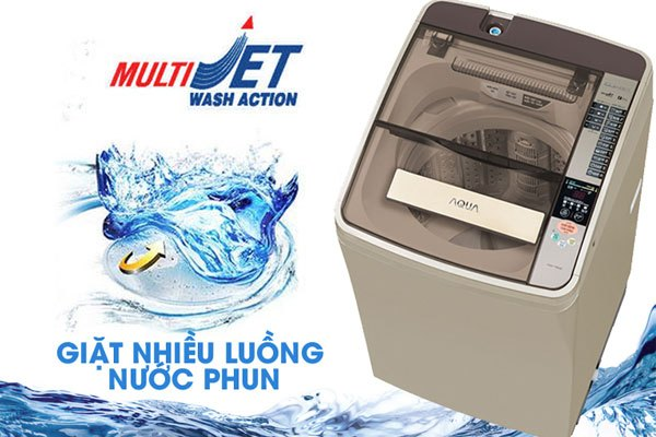 Nhờ công nghệ này trên máy giặt Aqua mà không còn tình trạng bám cặn bột giặt sau khi hoàn tất