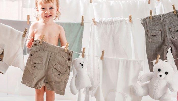Quần áo được giặt bằng máy giặt LG sạch hoàn toàn, không còn lo lắng về cặn bột giặt nữa