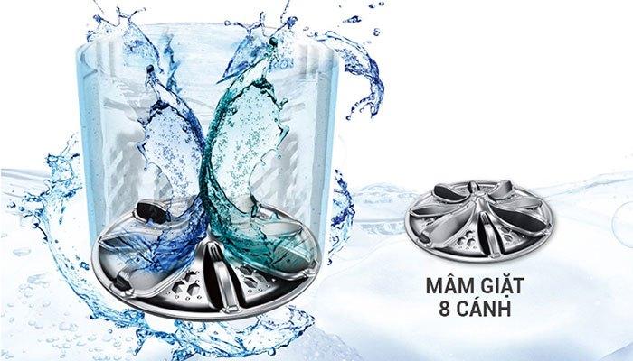 Máy giặt Panasonic có Stain Master kết hợp cùng mâm giặt Active Wave nhanh chóng làm biến mất những vết bẩn cứng đầu