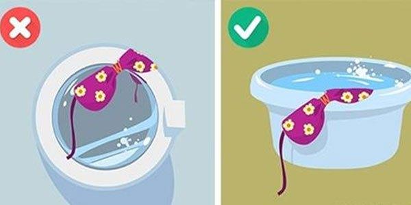 Giặt đồ bơi trong máy giặt sẽ khiến chất liệu vải bị hư tổn