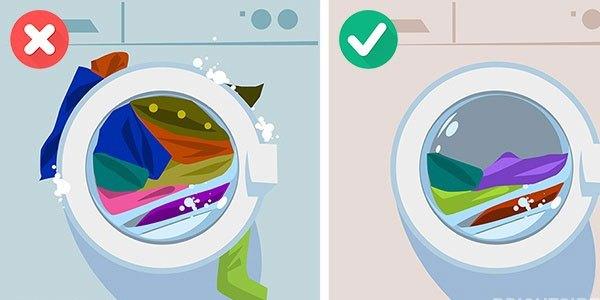 Quá nhiều quần áo sẽ khiến máy giặt 'đình công'