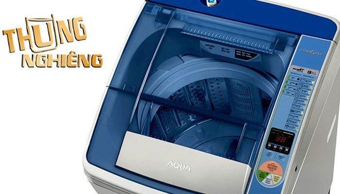 Thùng giặt nghiêng giúp máy giặt Aqua AQW-U800Z2T tiết kiệm nước hiệu quả