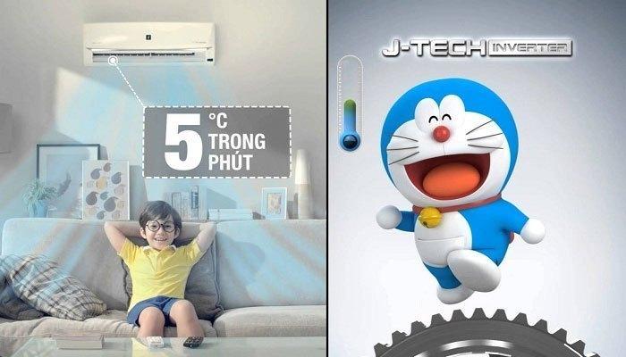 Máy lạnh J-Tech Inverter làm lạnh mạnh mẽ và nhanh chóng
