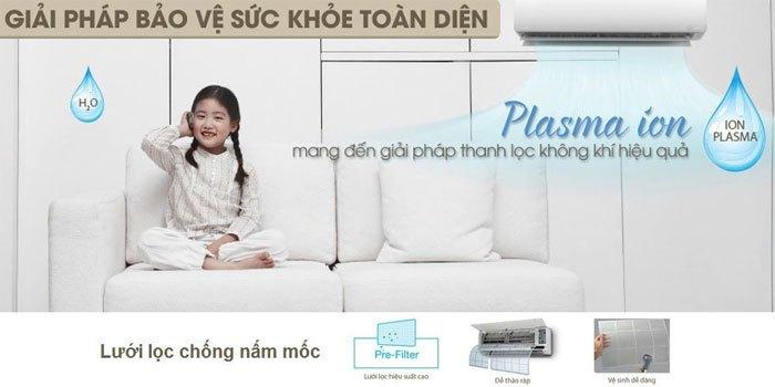 Máy lạnh Toshiba RAS-H18G2KCVP-V mang đến giải pháp bảo vệ sức khỏe toàn diện