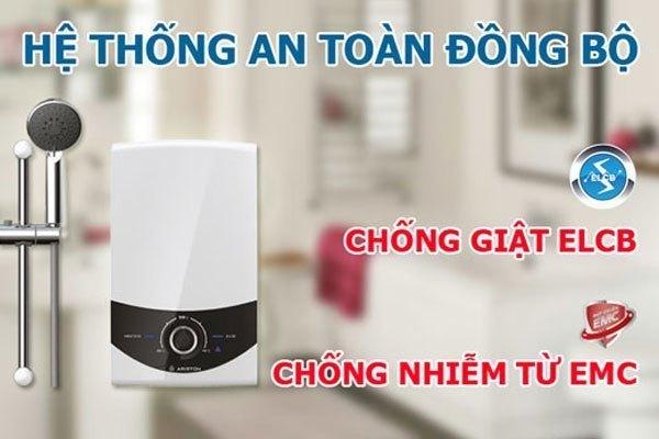 Gia đình bạn sẽ được bảo vệ an toàn với cầu dao chống rò điện ELCB khi sử dụng máy nước nóng Ariston SMC45PE-VN