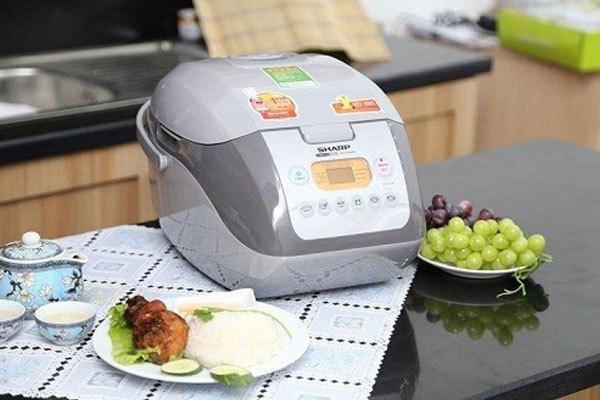 Nồi cơm điện Sharp KS-COM19V đa chức năng cho bạn thỏa thích nấu nướng
