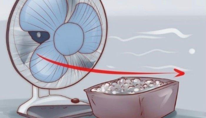 Nâng cao khả năng làm mát của quạt điện với đá lạnh