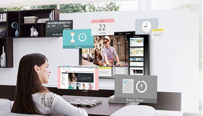 Màn hình my Home Screen cho khả năng kết nối ấn tượng trên một chiếc tivi Panasonic