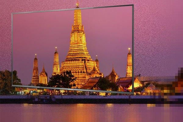 Bộ lọc nhiễu 3D trên tivi Panasonic giúp hình ảnh hiển thị mịn màng