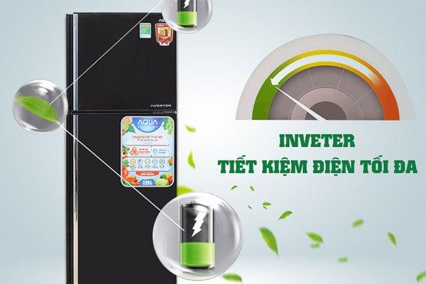 Công nghệ Inverter giúp tủ lạnh Aqua tiết kiệm điện hiệu quả hơn các loại thông thường