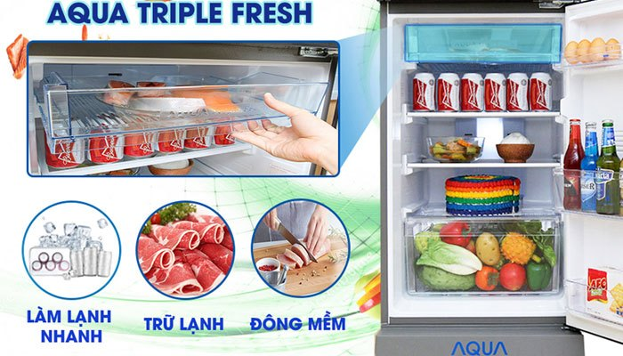 Tính năng Triple Fresh tiện lợi trên tủ lạnh Aqua