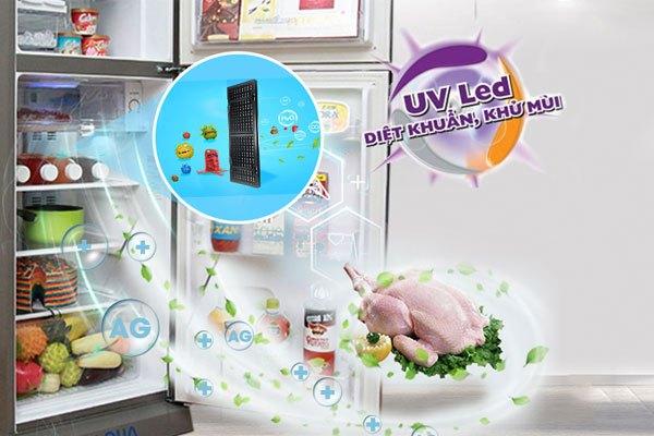 Các dòng tủ lạnh Aqua giá rẻ, tủ lạnh mini... đã được tích hợp hệ thống đènUV LED