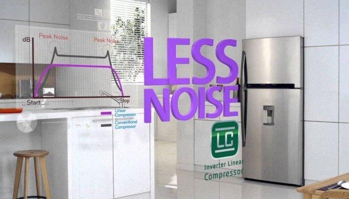 Tủ lạnh LG hoạt động êm ái hơn so với những loại tủ lạnh thông thường