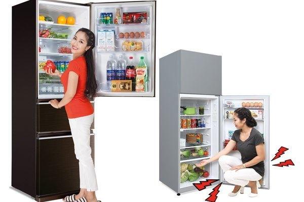 Tủ lạnh có ngăn đá dưới giúp việc đóng mở diễn ra dễ dàng, thuận tiện hơn