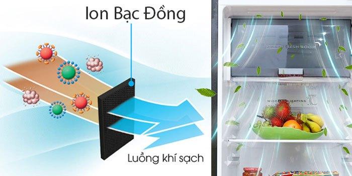 Bộ khử mùi Nano đồng trên một số tủ lạnh Sharp giúp khử mùi hôi hiệu quả gấp bội