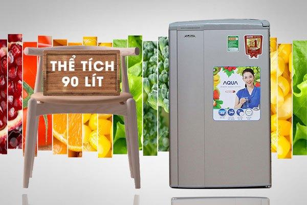 Dung tích tủ lạnh 90 lít phù hợp với các bạn sinh viên