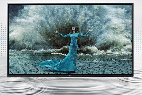 Thiết kế mỏng, bắt mắt của tivi LG 43LH570T