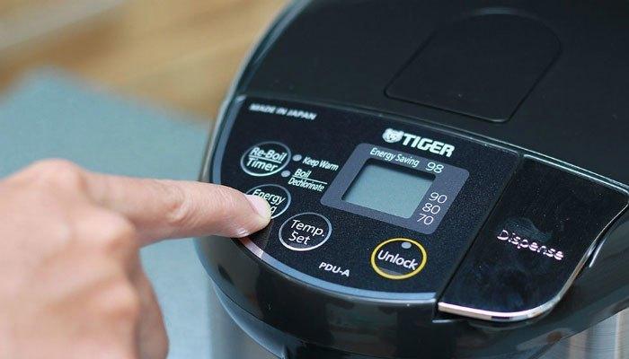 Kích hoạt chế độ tiết kiệm điện trên bình thủy điện Tiger