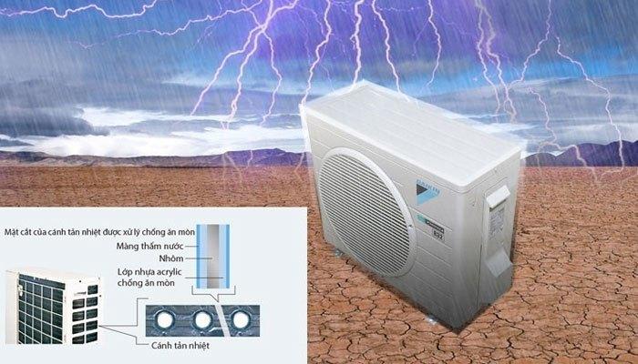 Dàn tản nhiệt chống ăn mòn thách thức thời tiết của máy lạnh Daikin