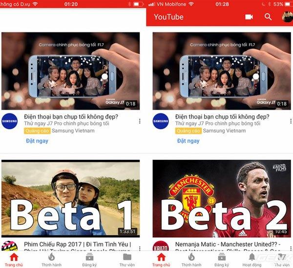 Thanh tìm kiếm trên Youtube đã được hiển thị với iOS 11 Beta 2 cho phép người dùng điện thoại iPhone sử dụng dễ dàng hơn