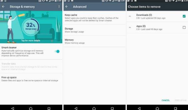 Giải phóng bộ nhớ của điện thoại Xperia XZ Premium để sử dụng được nhiều ứng dụng