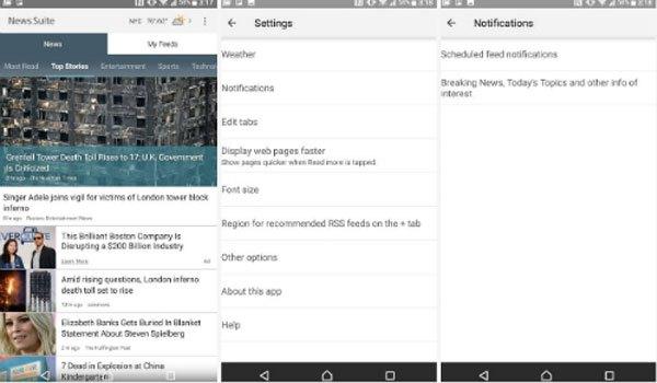 Cập nhật tin tức trên điện thoại Sony Xperia XZ Premium nhanh chóng với ứng dụng News Suite