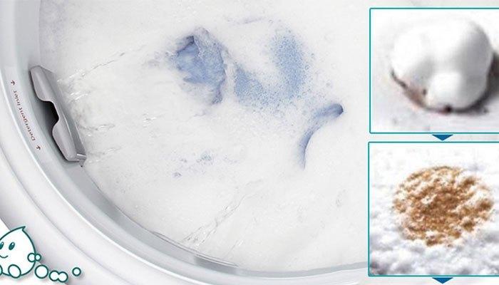 Máy giặt Panasonic sử dụng công nghệ StainMaster giúp bột giặt hòa tan trong nước, tạo bọt siêu mịn