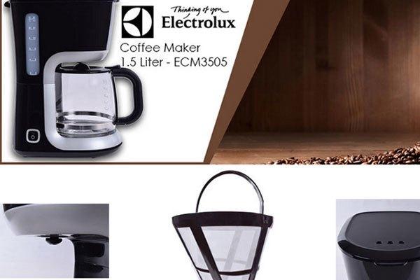 Máy pha cà phê Electrolux ECM3505 nhỏ gọn, hiện đại và dễ tháo rời