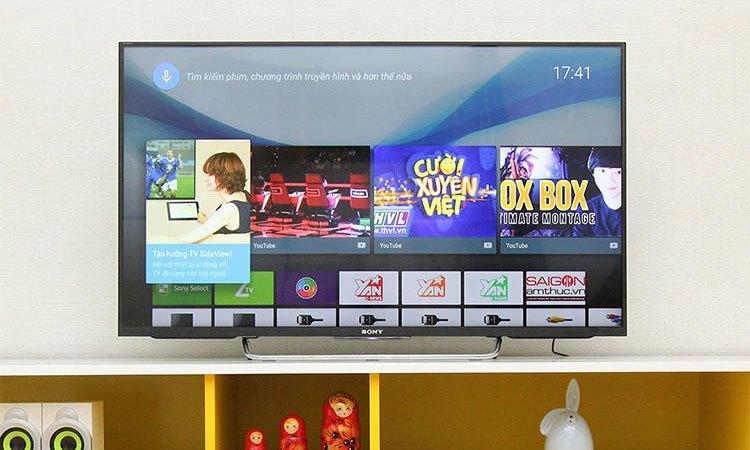 Chiếc Android Tivi Sony 43W800C sở hữu kho ứng dụng phong phú.