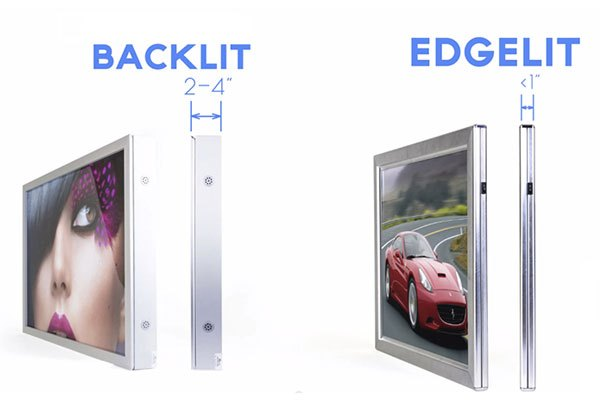 Tivi LED nền trực tiếp có thiết kế to hơn LED nền viền