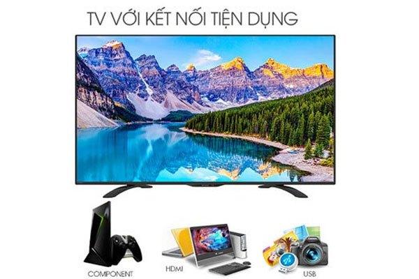 Tivi LED Sharp 32 inch LC-32LE280X có nhiều cổng kết nối đa dạng, tiện lợi