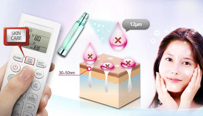 Máy lạnh LG giúp tăng cường độ ẩm cho da bạn