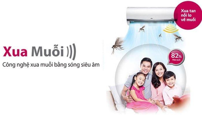 Khả năng xua muỗi hiệu quả lên đến 82,2% trên máy lạnh LG