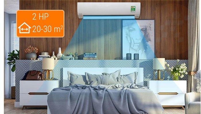Máy lạnh công suất 2 HP phù hợp với các căn phòng diện tích lớn