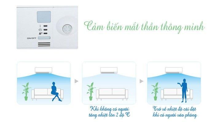 Tiết kiệm điện năng với cảm biến mắt thần trên máy lạnh Daikin