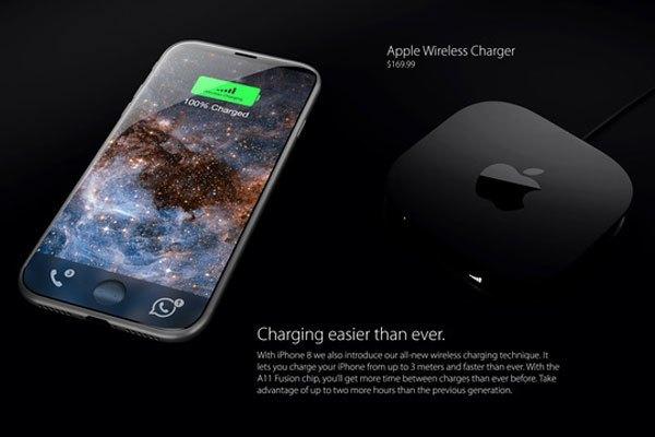 iPhone 8 sẽ là chiếc điện thoại đầu tiên của Apple sở hữu sạc không dây