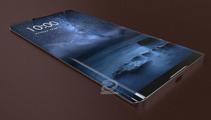 Điện thoại Nokia Edge có màn hình cong tràn viền hiện đại, được đánh giá khá giống với phong cách thiết kế của dòng Samsung Galaxy.