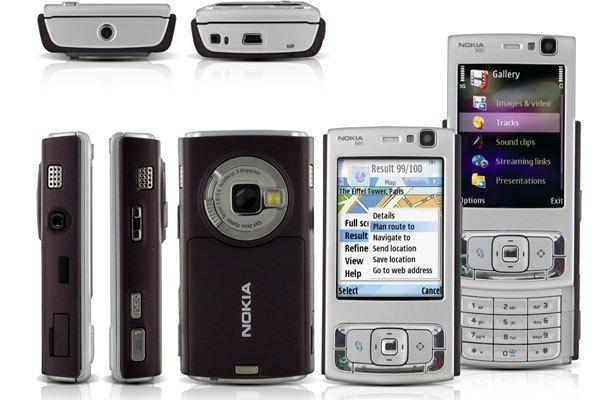 Điện thoại Nokia N95 ra đời nhằm cạnh tranh với iPhone của Apple.