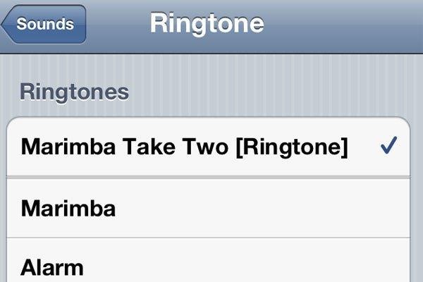 Nhạc chuông Marimba tới nay được xếp ở mục Classic trong phần Sound của ứng dụng Settings trên iPhone.