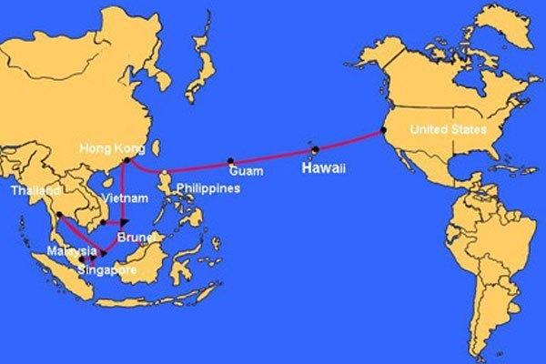 Tuyến cáp quang biển AAG trải dài qua các nước