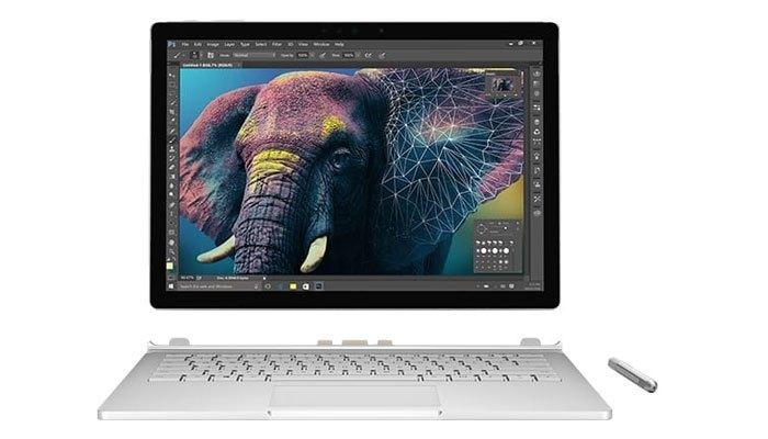 Chiếc máy tính xách tay Surface Book của Microsoft được đánh giá rất cao về thiết kế phần cứng và nổi bật với màn hình đẹp, viền mỏng và thiết kế bản lề độc đáo