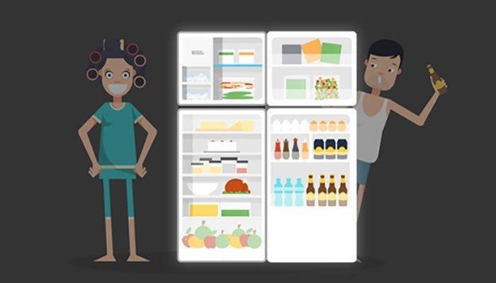 Đàn ông chỉ xem tủ lạnh là nơi làm lạnh đồ uống và phụ nữ thì biến nó thành cả kho lương thực